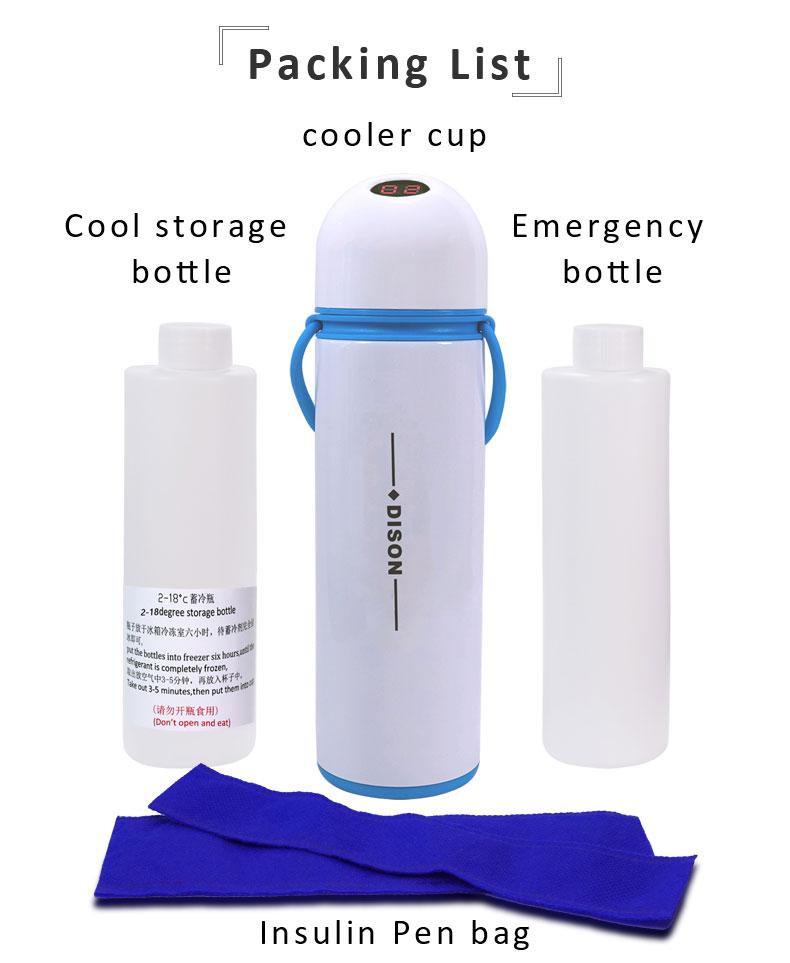 กระบอกเก็บความเย็น กล่องเก็บความเย็น ชนิดพกพา สำหรับเก็บยาแช่เย็น และ อินซูลิน ควบคุมอุณหภูมิ 2-8 องศาเซลเซียส ได้นาน 24 ชั่วโมง พร้อมมีขวดสารละลายช่วยรักษาอุณหภูมิ (แช่ช่องแข็งก่อนใช้งาน 6-8 ชั่วโมง)